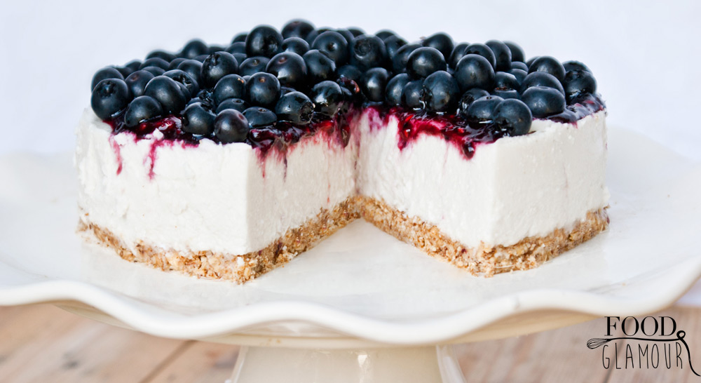 Vegan-paleo-suikervrij,- sugar free, blueberry-cheesecake,-coconut,-kwarktaart,-blauwe-bessen,-glutenvrij,-lactosevrij,-foodglamour,-food-glamour