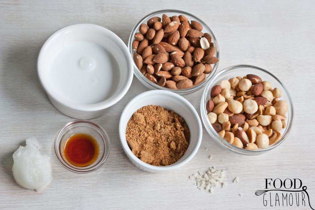 ingredienten-notenreep,-energiereep,-karamel,-chocolade-recept,-foodglamour,-food-glamour